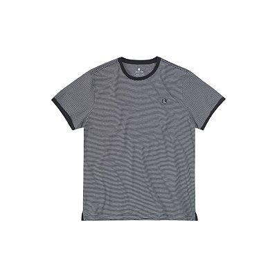 Camiseta Masculina Manga Curta Listrada Maxi Label - Preto