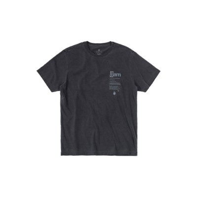 Camiseta de Manga Curta Masculina Estonada Estampa I AM - Preto