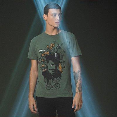 Camiseta Masculina com Estampa Manual Elements Von der Volke - Verde