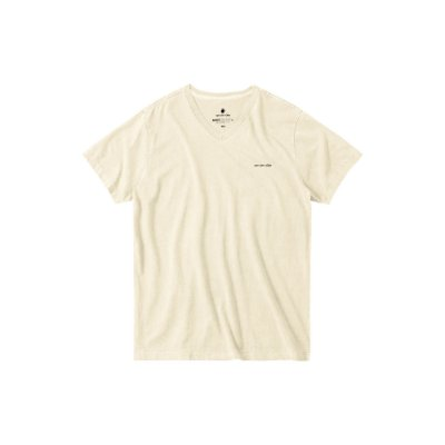 Camiseta básica masculina estonada gola V e manga curta - Bege