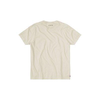 Camiseta básica masculina estonada gola redonda e manga curta - Bege