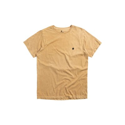 Camiseta básica masculina estonada gola redonda e manga curta - Amarelo