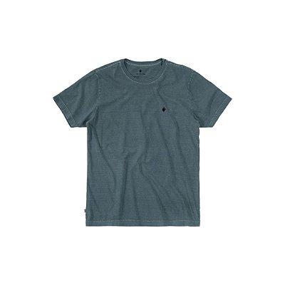 Camiseta básica masculina estonada gola redonda e manga curta - Verde Escuro