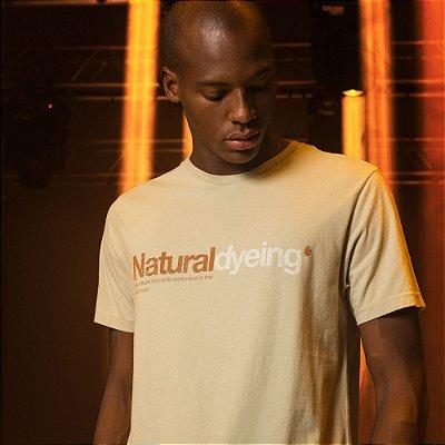 Camiseta Manga Curta com Tingimento Natural Von der Volke - Bege