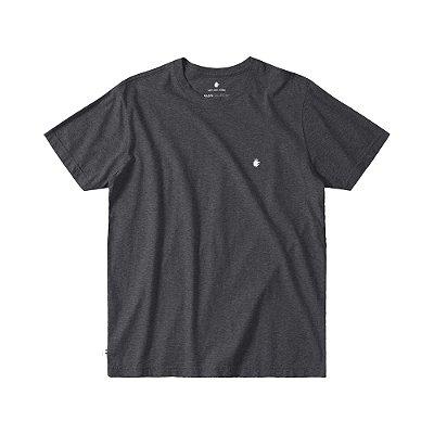 Camiseta Básica Masculina Manga Curta BASIS - PRETO MESCLA