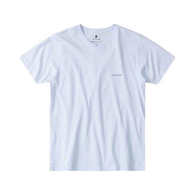 Camiseta Básica Masculina Gola V BASIS V - BRANCO