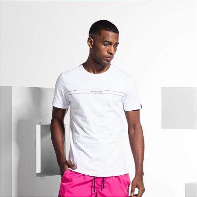 Camiseta Masculina Manga Curta ESSENTIAL - BRANCO