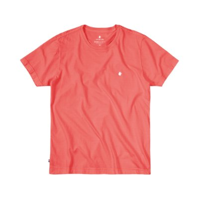 Camiseta Básica Masculina Estonada BASIS STONE - VERMELHO
