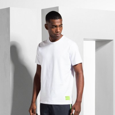 Camiseta Masculina Manga Curta com Elastano ELASTAAN - BRANCO