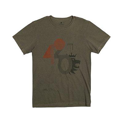 Camiseta Masculina Manga Curta SIGNS - VERDE MILITAR
