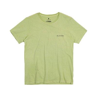 Camiseta Masculina com Estampa Manual GAROPABA - VERDE CLARO