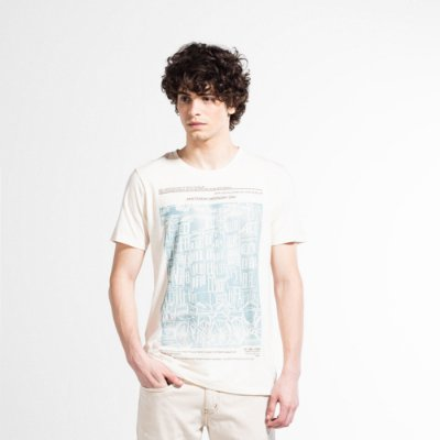 Camiseta Masculina Manga Curta AMS SCENE - OFF WHITE