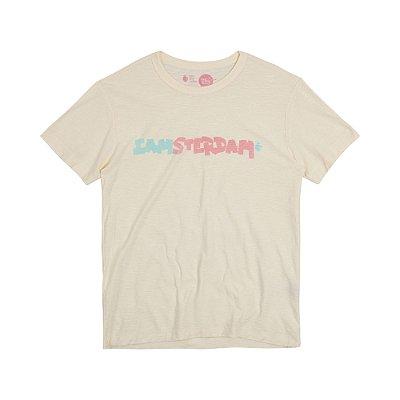 Camiseta Masculina Manga Curta NO KIND I AMSTERDAM - OFF WHITE