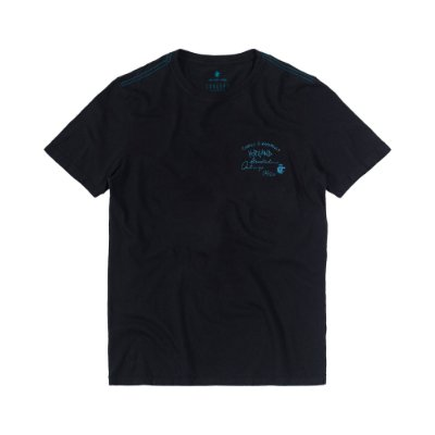 Camiseta Masculina Manga Curta WALL BRAND - PRETO