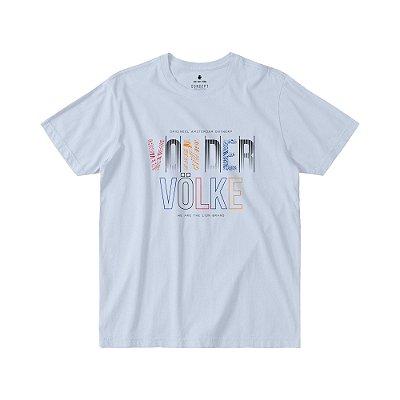 Camiseta Masculina Manga Curta LETT COLOR - BRANCO