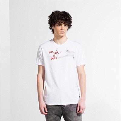 Camiseta Masculina com Estampa em Cera VDV WAY - BRANCO