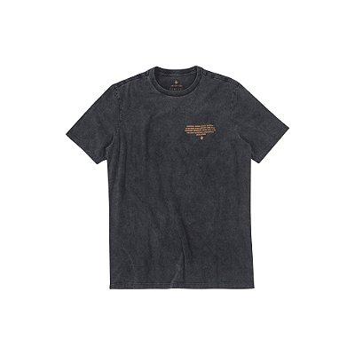 Camiseta Masculina Manga Curta Estonada Austin - Preto