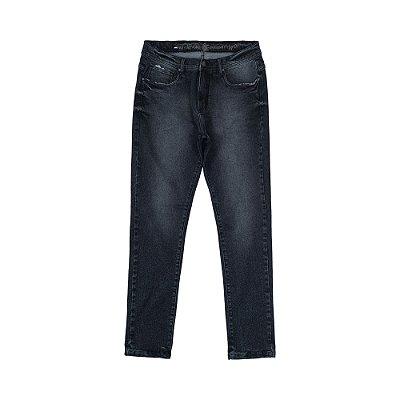 Calça Jeans Preta Masculina Básica James - Black Denim