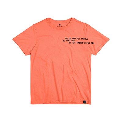 Camiseta Masculina Manga Curta SEE THINGS - LARANJA