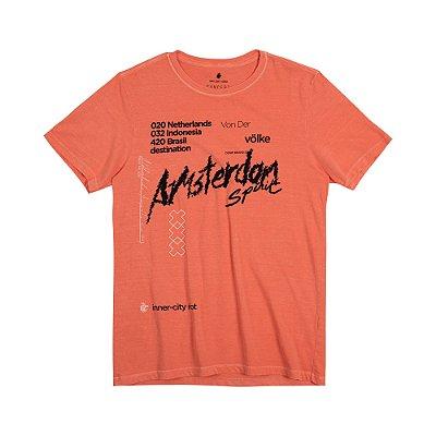 Camiseta Masculina Manga Curta AMS SPIRIT - LARANJA