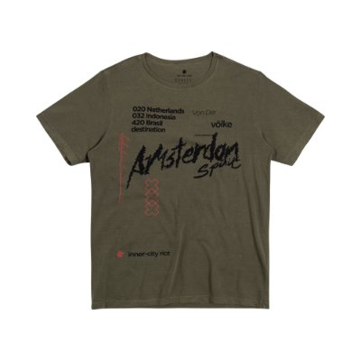 Camiseta Masculina Manga Curta AMS SPIRIT - VERDE MILITAR