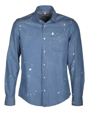 Camisa Splash Denim Light Denim