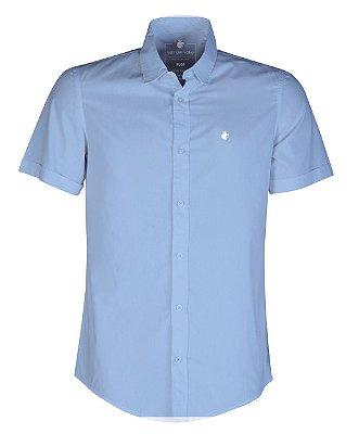 Camisa basis short azul claro
