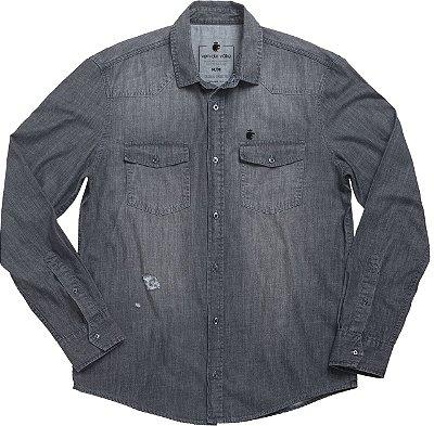 Camisa Zwart Arrow Black Denim