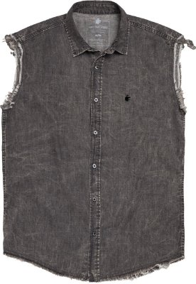 Camisa denim vest black denim