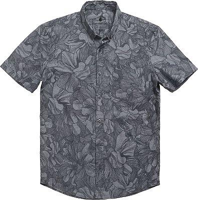 Camisa Zwart Bloem Preto