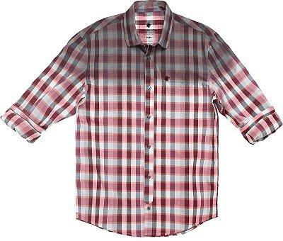 Camisa Chess Schaduw Vermelho