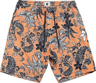 Boardshort orange bloemen laranja