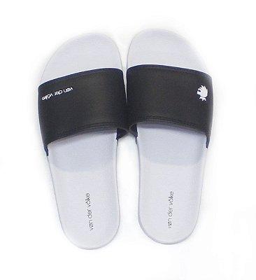 Chinelo slide twee lion branco/preto