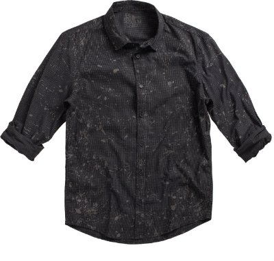 Camisa Chess Splash Preto