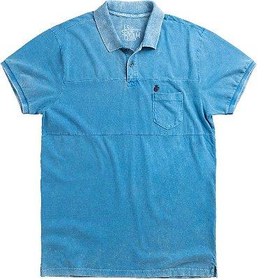 Polo Breast Pocket Azul