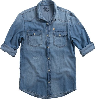 CAMISA DENIM PATCH MEDIUM DENIM