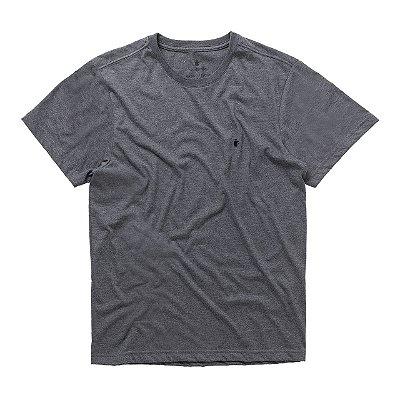 T-Shirt Basis Round Preto Mescla