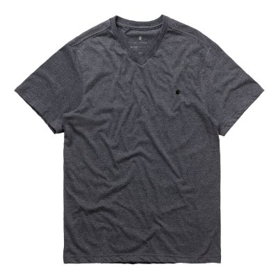 T-Shirt Basis V Preto Mescla
