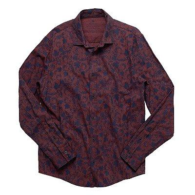 Camisa Blow Hibiscus Bordo