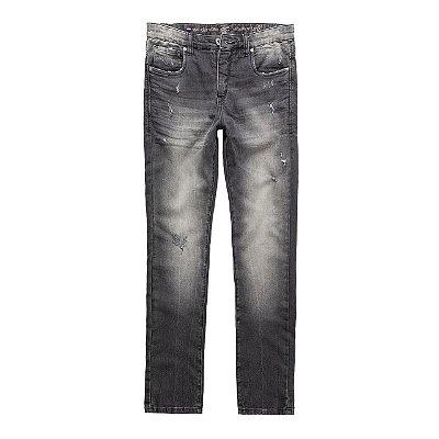 Calça Jeans Purple Rain Black Denim