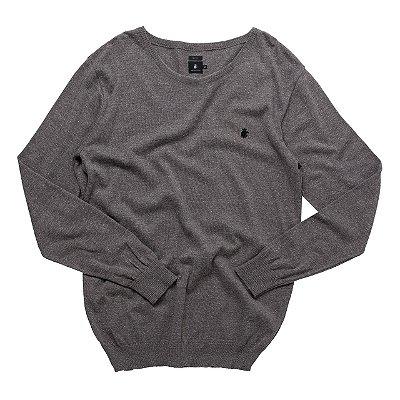 tricot basis careca cinza mescla