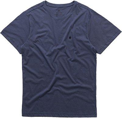 Camiseta Masculina Básica Gola Redonda Malha Algodão - Azul