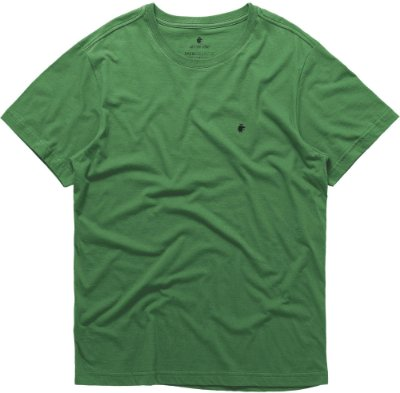 Camiseta Masculina Básica Gola Redonda Malha Algodão - Verde