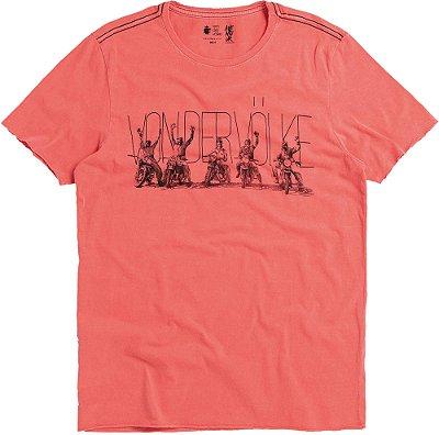Camiseta Estampa Moto De Gola Redonda Malha Algodão - Vermelho
