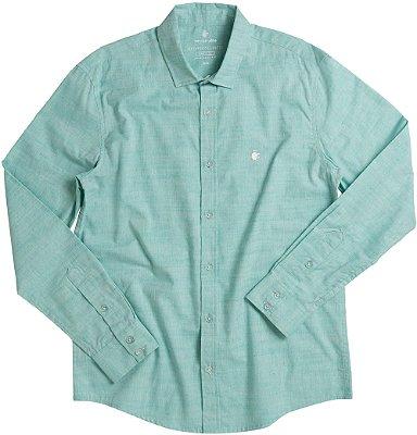 Camisa Masculina Tradicional De Manga Longa - Verde