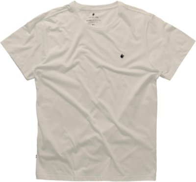 Camiseta Masculina Básica Gola Redonda Malha Algodão - Bege