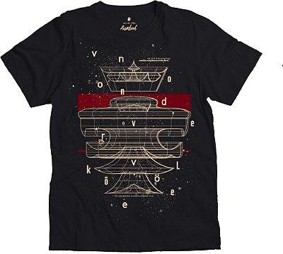 Camiseta Estampa Leão 360° Gola Redonda Malha Algodão - Preto