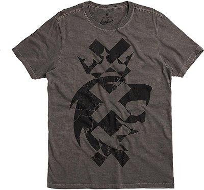 Camiseta Estampa Leão Xxx Gola Redonda Malha Algodão - Preto