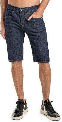 Bermuda Jeans Masculina Fecho Zíper Bolsos Modelagem Slim - Denim