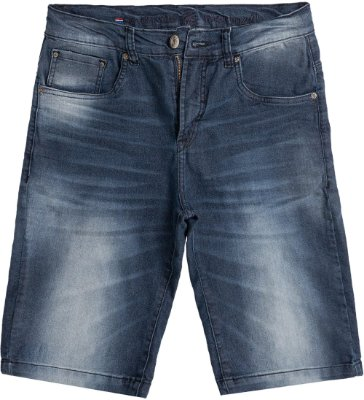 Bermuda Jeans Masculina Levemente Desbotado Modelagem Tradicional - Denim